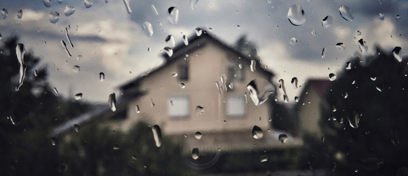Rain on Texas homes