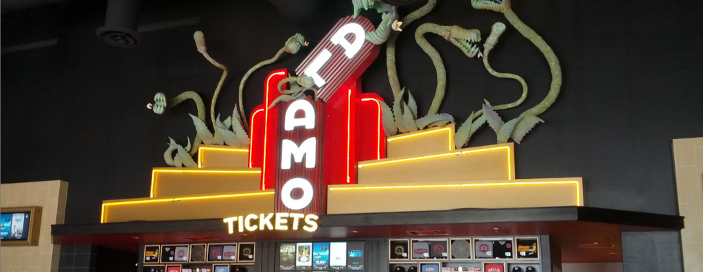 Inside the Alamo Drafthouse as one of the best of Austin, Texas