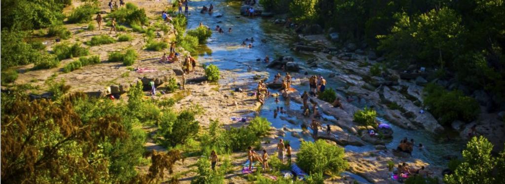 Barton Creek Greenbelt with water in Austin, Texas
