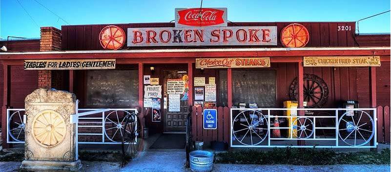 Broken Spoke entrance in Austin, Texas