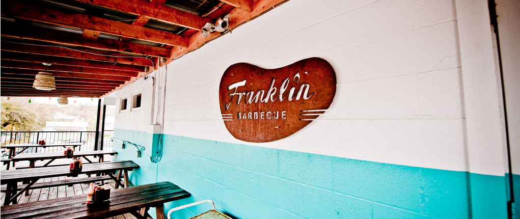 Franklin Barbecue outside eating area as one of the best in Austin, Texas