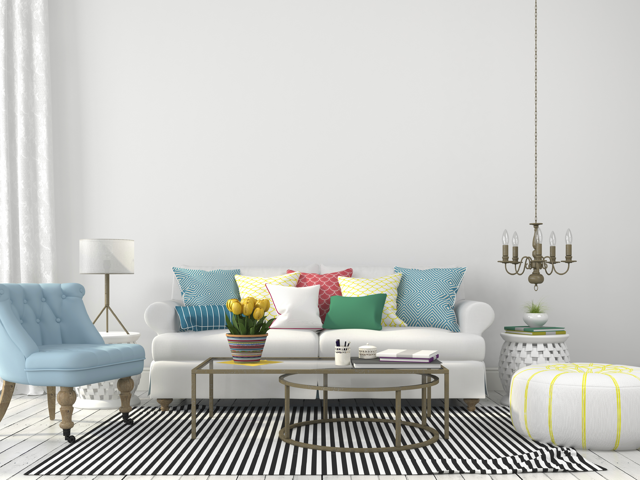 Living room with colorful pillows - Austin Homes for Sale | New ...