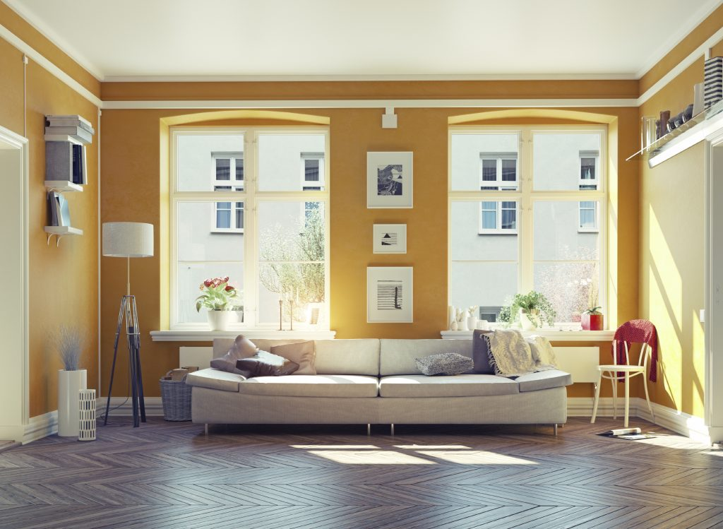 Sun Shining In An Orange Living Room As One Of The Best Summer Home Decor  Ideas