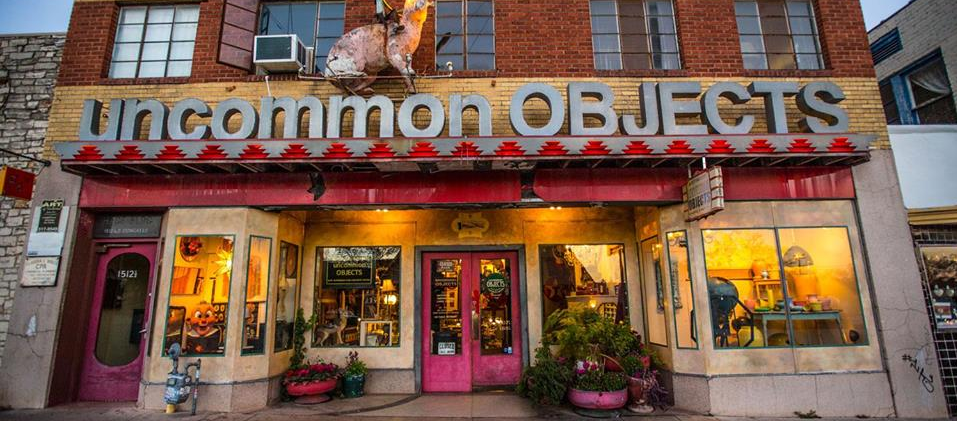 trance to Uncommon Objects store in Austin, Texas
