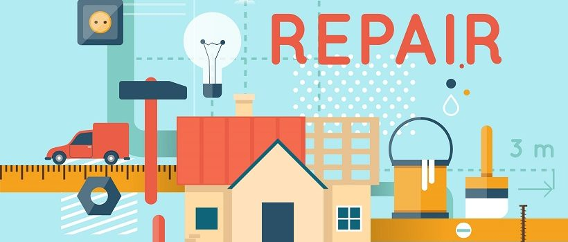 Home repair often involves interior and exterior maintenance.