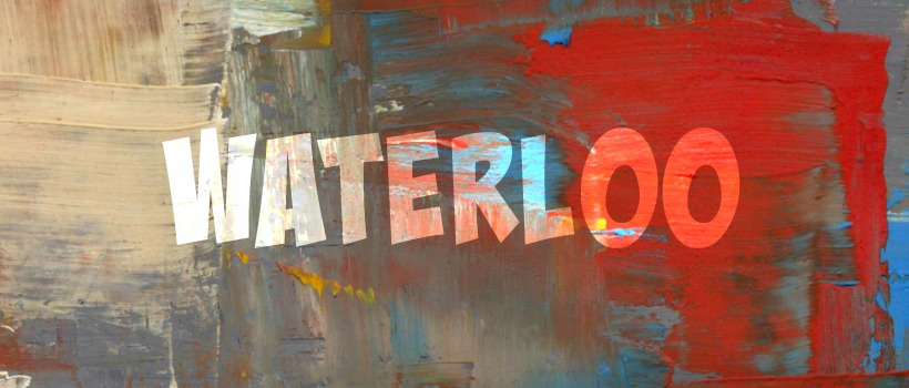 Sign reading Waterloo, the previous name for Austin, Texas.