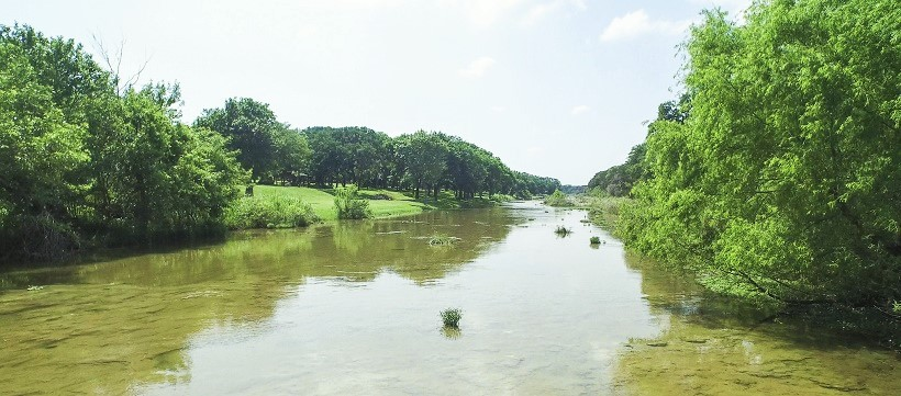 Hill Country along the San Gabriel River for those living in Leander, Texas