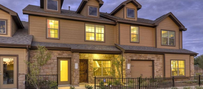 Exterior of townhomes in Austin, Texas