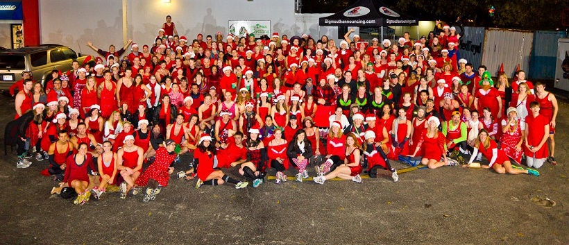 A group picture of The 12 Bars of Christmas runners