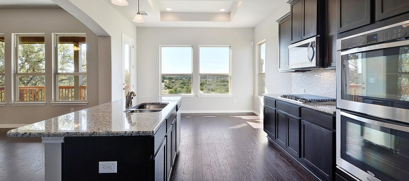 Kitchen of one of the inventory homes in Austin, Texas