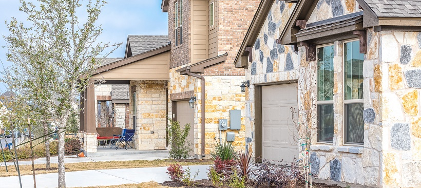 Exteriors of move-in ready homes in Austin, Texas