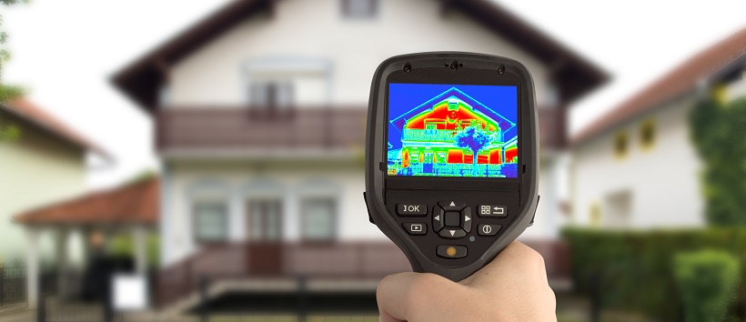 Thermal image of the energy efficiency of a home