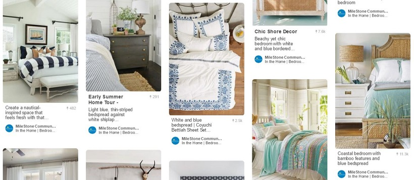 Pinterest home decor ideas of various bedroom image pins.