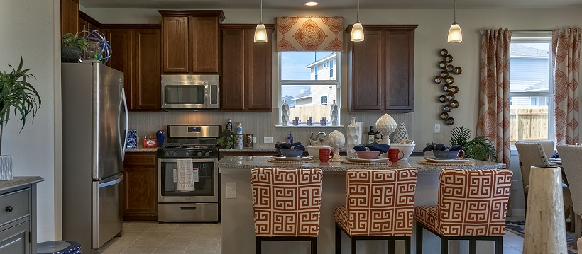 The kitchen of one of Austin's newest coming-soon home options.