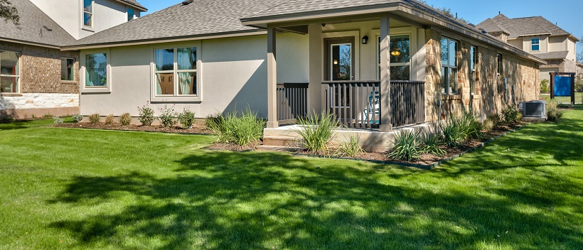 A spacious, vibrant green backyard of a home in Larkspur, one of the best places to live with kids.